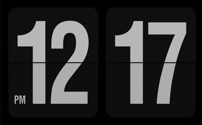 اسکرین سیور ساعت دیجیتال Fliqlo برای ویندوز XP